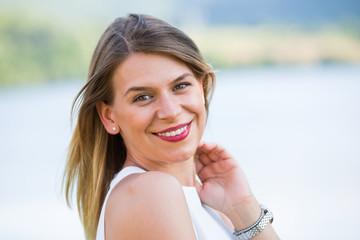 Attractive woman portrait outdoor