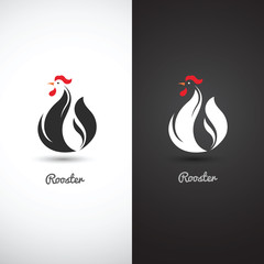 Rooster symbol vector