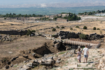 Martyrion of Saint Philip, ancient ruins in Hierapolis, Pamukkale, Turkey. UNESCO World Heritage.
