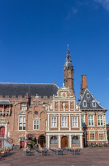 Town hall on the main market square of Haarlem