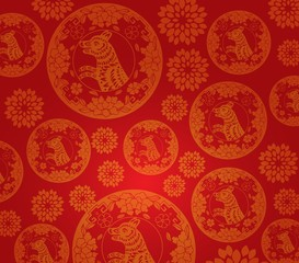 Chinese new year dog pattern background