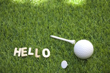 Greeting to golfer