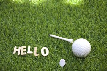 Greeting to golfer