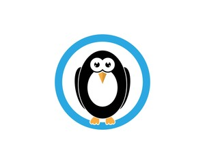 Penguin Bird Logo Design Template