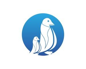 Penguin Bird Logo Design Template