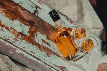 whiskey in an old bottle, wild west