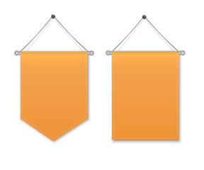 Orange pennant hanging
