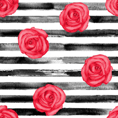 Red roses striped texture
