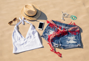 Set of women's summer clothes