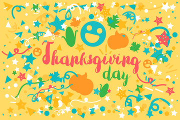 Thanksgiving Day Celebration Banner