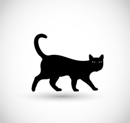 Black cat icon VECTOR