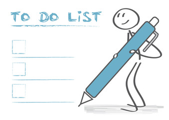 Strichmännchen erstellt To-Do-Liste - Checkboxen zum abhaken