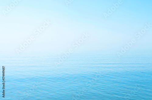 Adesivo sea blue surface, horizon, calm. background.  Azov. Ukraine.