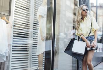 Woman Going to Shopping