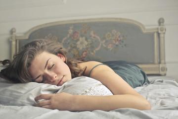 Sound asleep girl