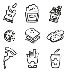 Snack Icons Freehand