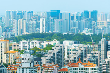 Singapore real estate overlooking