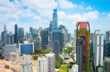 Foto op Plexiglas Singapore Singapore Downtown skyline. Business architecture