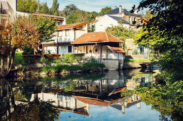 Fotorollo Fluss Reflet rivière Yerres / reflection riviere yerres
