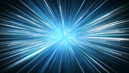 Radial blur blue rays abstract background