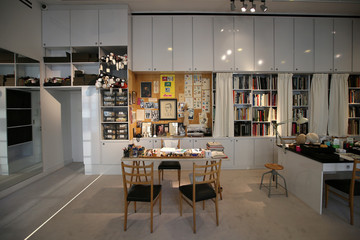 The Studio where all the collections where designed are seen at the Yves Saint Laurent Museum in Paris
