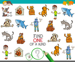 find one picture of a kind activity game
