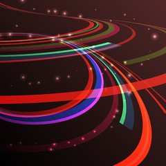 Vector abstarct illustartion curving lines ray of ligh
