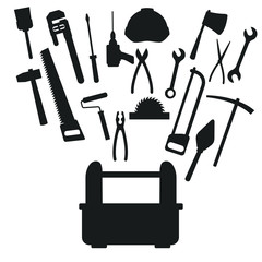 Construction toolbox service icon vector illustration graphic design Vector Ilustration icon urban n