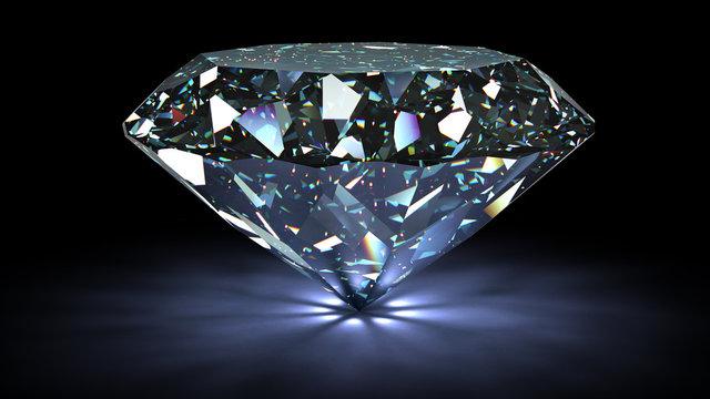perfect diamond isolated on white background