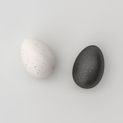 Minimal conceptual Egg background, art and space design.