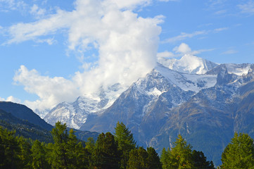 Schweizer Alpen im Wallis
