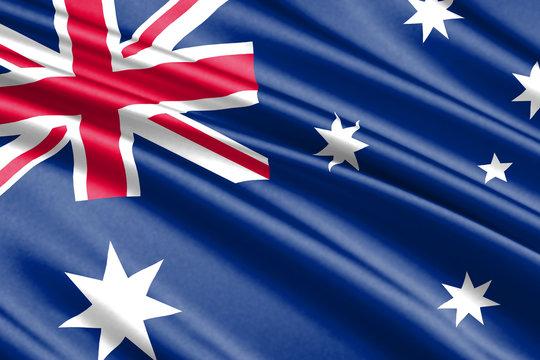 waving flag Australia