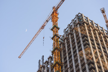 Constructing new high-rise building