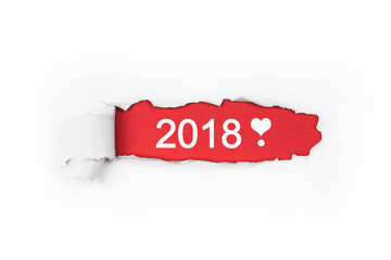 aufgerissener Flyer rot - 2018