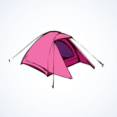 Tent. Vector drawing