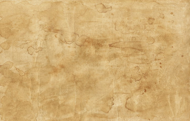 Old brown paper texture with stains Wall mural