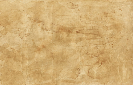 Old brown paper texture with stains