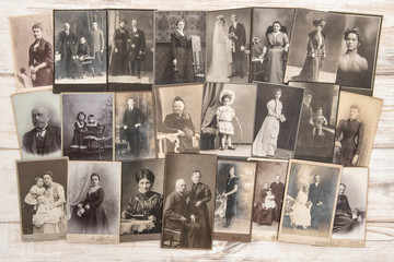 Old family photos People vintage clothing Antique fashion dress