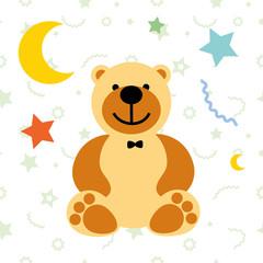 vector illustration toy teddy bear
