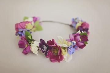 Obraz Wianek Flower Wearth  - fototapety do salonu