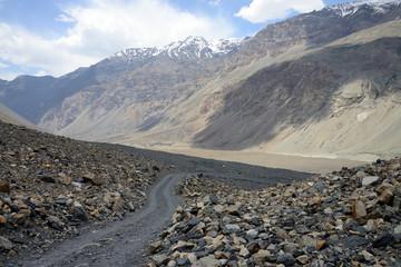 Beautiful Bartang Valley near Ghudara, Pamir Mountain Range, Tajikistan