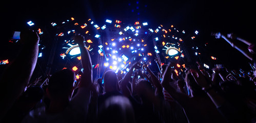 The hands of people at the concert