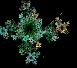 fractal blooming garden