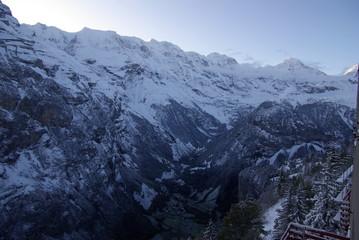 ミューレン谷の風景