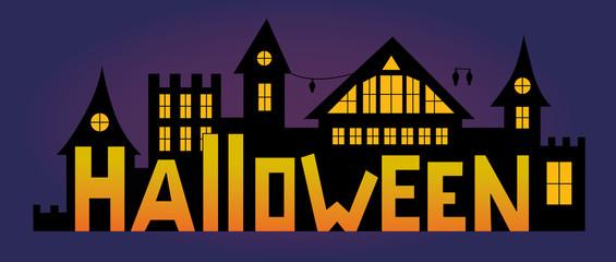 Happy Halloween with house