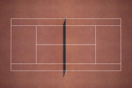 Tenniscourtseen from above