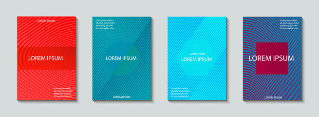 Covers design set. Abstract, minimal, geometric pattern.