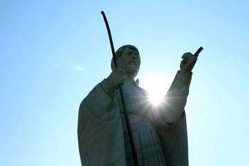 Closer to the statue of Francis Xavier in Yamaguchi, Japan. Considered as the first missionary for Japan