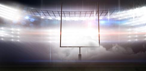 Graphic image of goal post at American football stadium