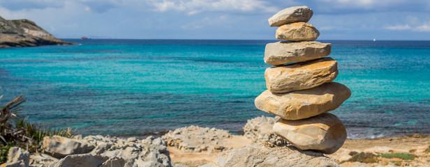 Panorama Gleichgewicht Steine